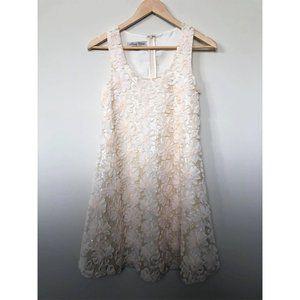 Parisian Collection | Beige Flower Detail Dress